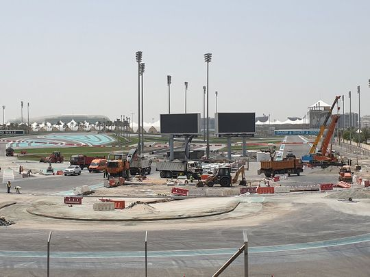 Yas Marina Circuit is undergoing extensive alterations