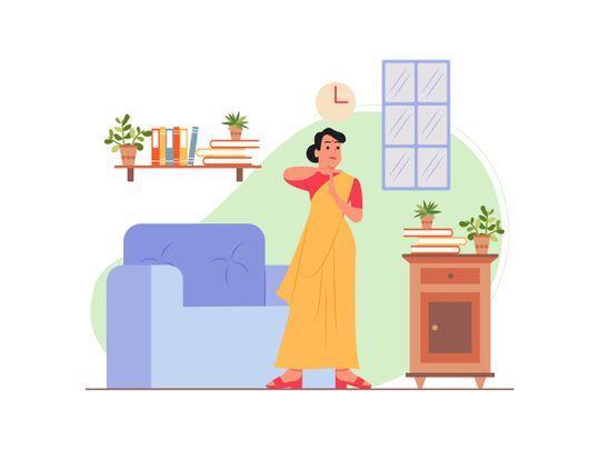 indian woman housewife work