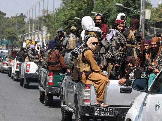 Afghanistan Taliban fighters Kabul