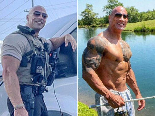 Eric Fields and Dwayne 'The Rock' Johnson