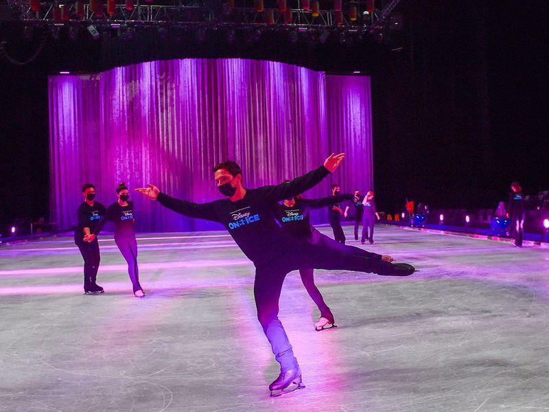 Disney On Ice rehearsals in Abu Dhabi
