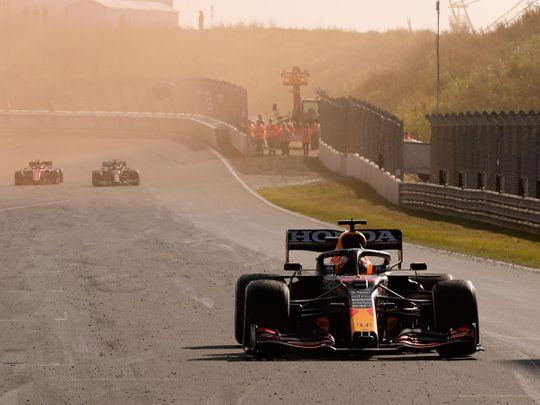 Red Bull's Max Verstappen storms away