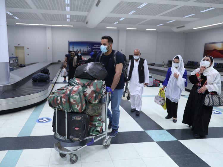 الأفغان الذين تم إجلاؤهم