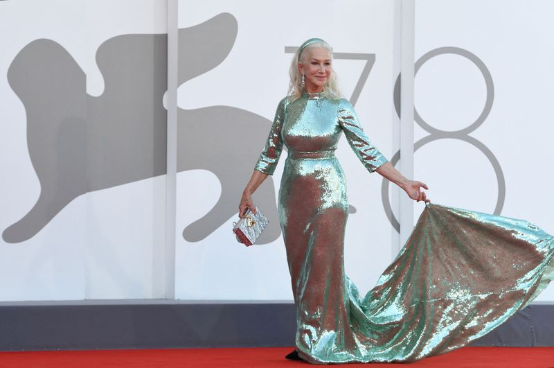 British actress Helen Mirren arrives for the opening ceremony and the screening of the film