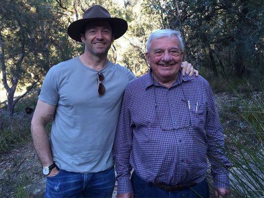 Hugh Jackman and his father Christopher John Jackman