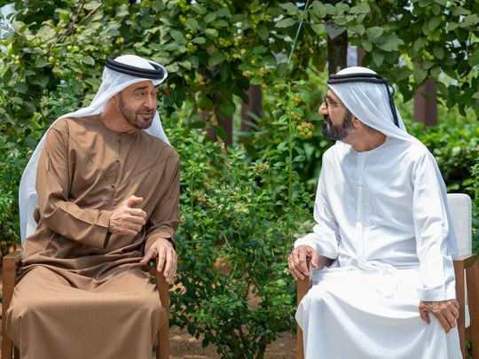 Sheikh Mohammed bin Rashid Al Maktoum and Sheikh Mohamed bin Zayed Al Nahyan