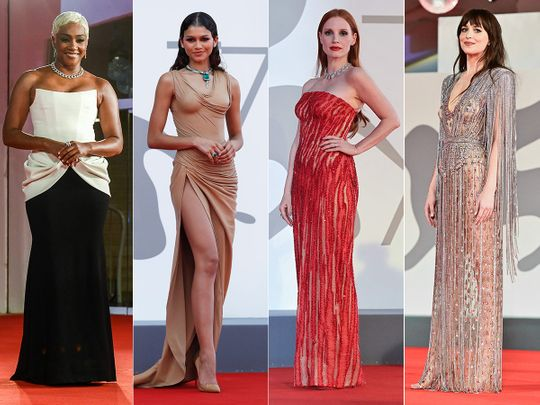 Tiffany Haddish, Zendaya, Jessica Chastain and Dakota Johnson at Venice Film Festival 2021