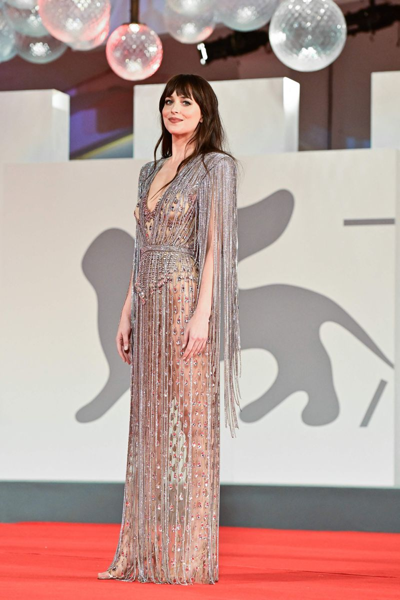 US actress Dakota Johnson arrives for the screening of the film