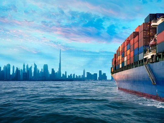 STOCK Dubai shipping port container economy