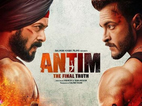 Salman Khan and Aayush Sharma in 'Antim'
