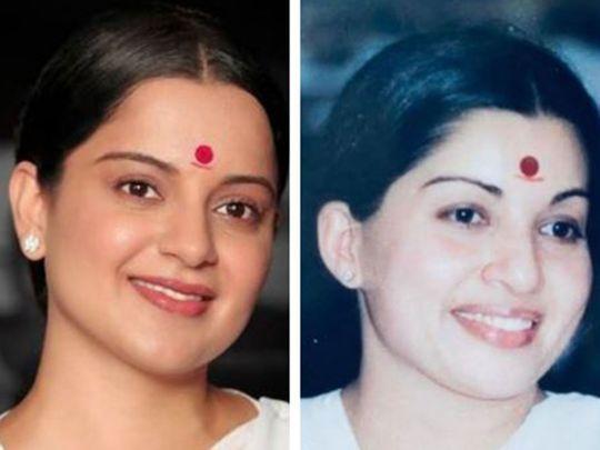 Actress Kangana Ranaut and late Tamil Nadu CM J Jayalalithaa