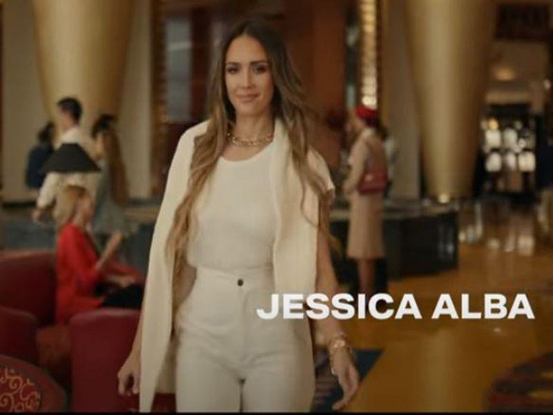 Jessica Alba in the YoTube screengrab of the Dubai Tourism campaign