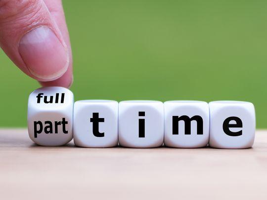 part-time job full time job