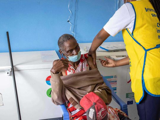 Maasai man covid vaccine africa