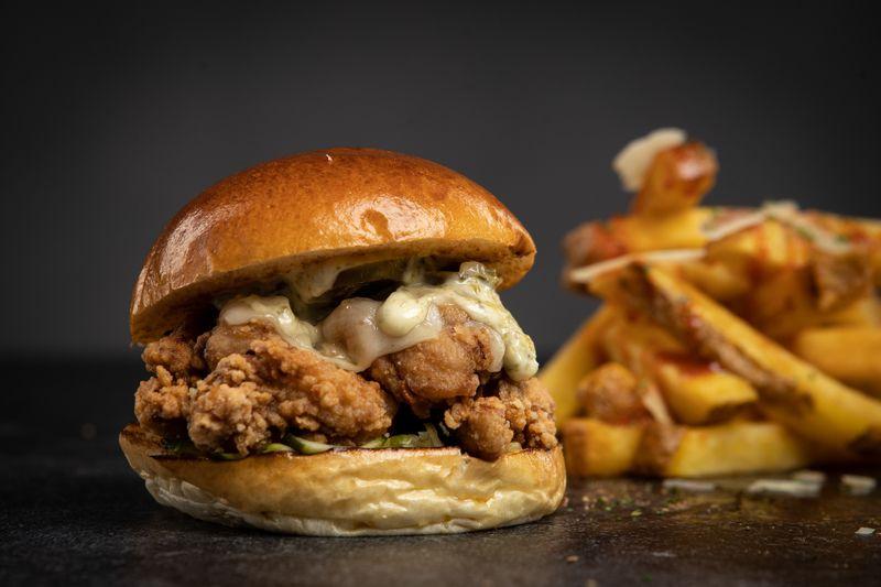 Chef izu chicken burger