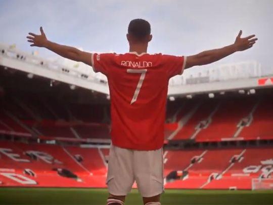 Cristiano Ronaldo back on the Old Trafford turf