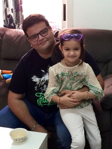 Jayesh Makwana with his daughter Angel-1631179780667