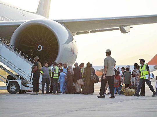 Kabul flight Qatar Airways refugees Afghan