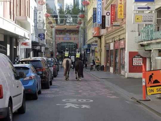 Melbourne police australia covid