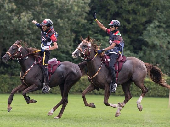 The UAE triumphed at the  FEI CSI 4 Star World Endurance Championships for Young Riders and Juniors