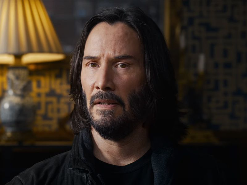 Keanu Reeves in The Matrix Resurrections trailer