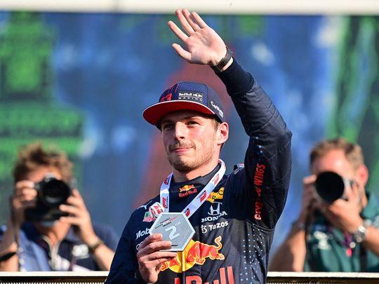Red Bull's Max Verstappen celebrates