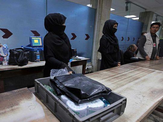 Afghan airport women kabul
