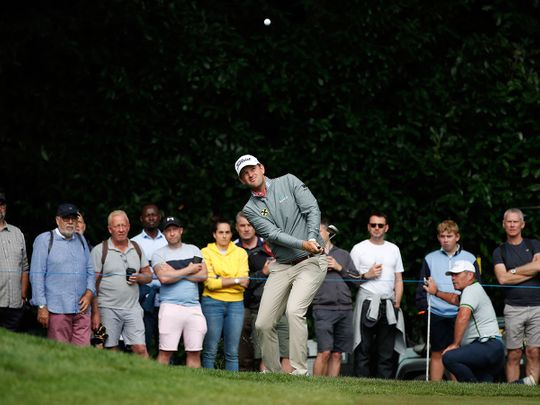 Austria's Bernd Wiesberger in action during the third round of the BMW PGA Championship