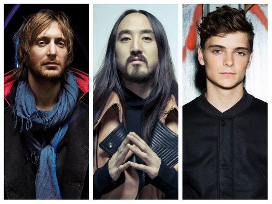 David Guetta, Steve Aoki and Martin Garrix