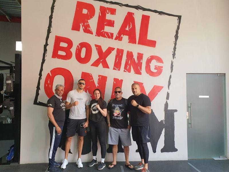 Hamzah Sheeraz has been training in Dubai at Real Boxing Only Gym. Virendra Saklani/Gulf News