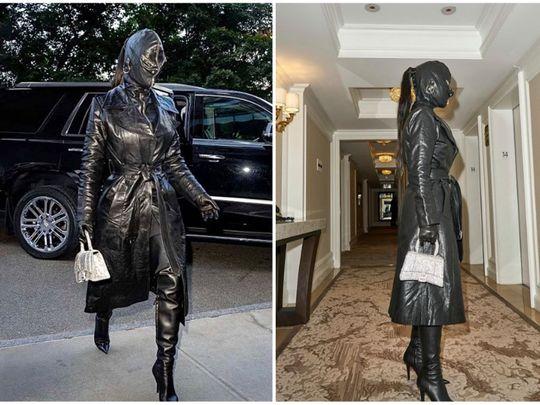 Kim Kardashian in Black Leather