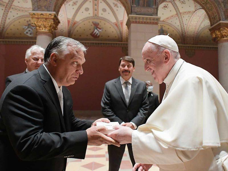 Pope Francis Hungarian Prime Minister Viktor Orban Budapest