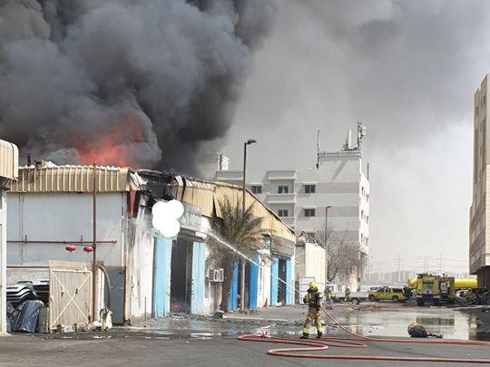 Sharjah Fire 2012-9-12
