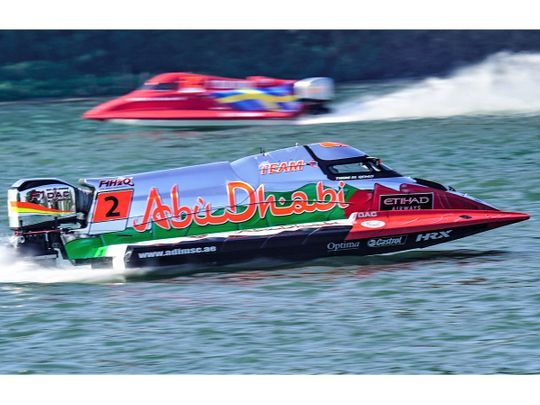Thani Al Qemzi on his way to victory in Italy