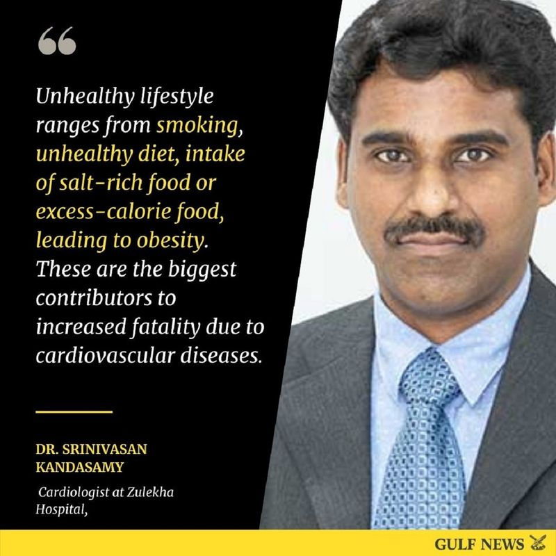 """Dr. Srinivasan Kandasamy, Cardiologist at Zulekha Hospital, point to """"fatty plaques"""" (or atherosclerosis) as the key driver behind CVD. Doctors point to the usual suspects behind cardiovascular disease:"""