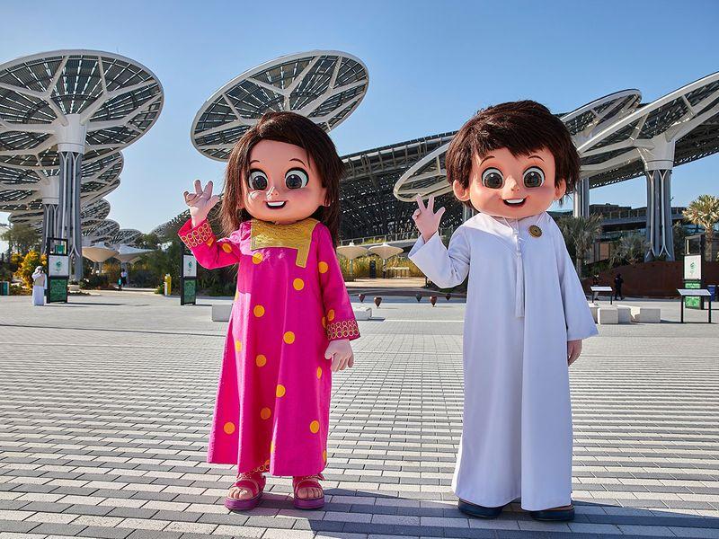 Mascot siblings Rashid and Latifa