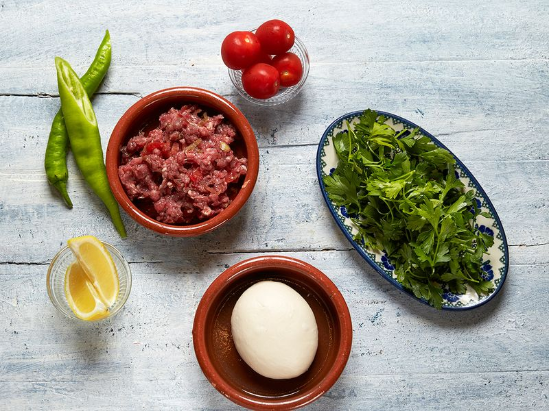 Ingredients for Pide develi