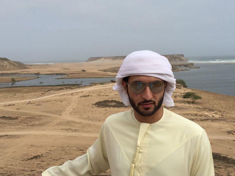 Ali Al Hosani touring sites and beaches in Oman-1631856218471