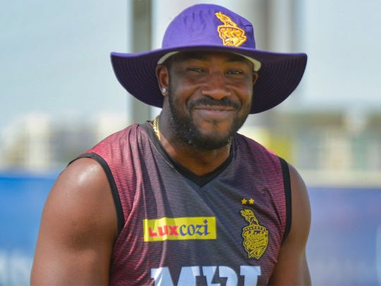 Andre Russell is back in training for KKR
