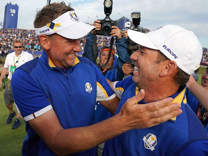 Sergio Garcia and Ryder Cup teammate Ian Poulter