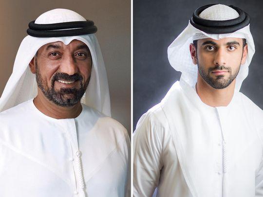 (L to R) Sheikh Ahmed bin Saeed Al Maktoum and Sheikh Mansoor bin Mohammed bin Rashid Al Maktoum