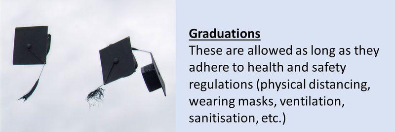 COVID-19 graduation rules
