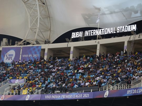 Dubai crowd cricket stadium 2021