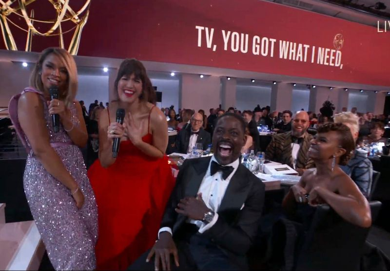 Mandy Moore and the cast of This Is Us at the Emmys