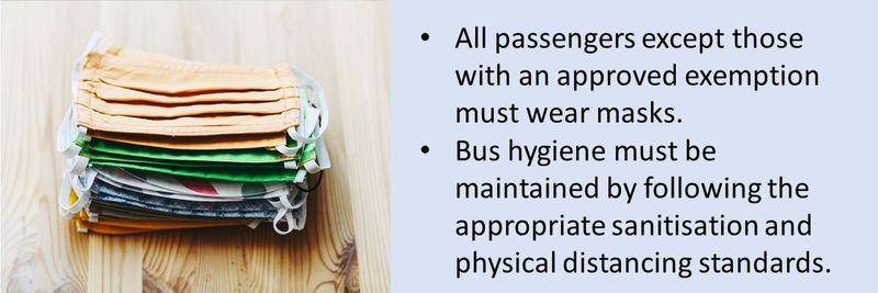 Seat belts, arm rests, handles and rails must be sanitised, in accordance with RTA's relevant guidelines for public transportation.