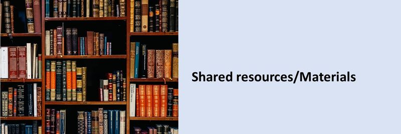 Shared resources/Materials