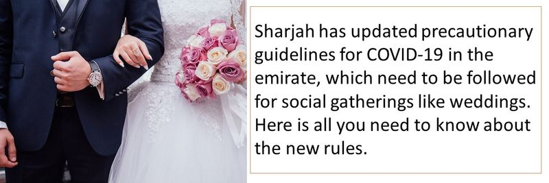 Sharjah has updated precautionary guidelines for COVID-19 in the emirate, which need to be followed for social gatherings like weddings. Here is all you need to know about the new rules.