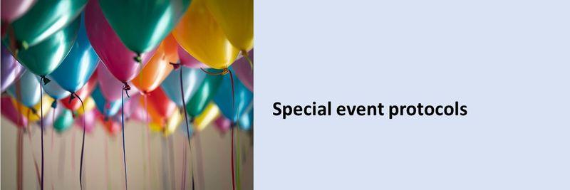 Special event protocols