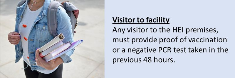 Visitor to facility