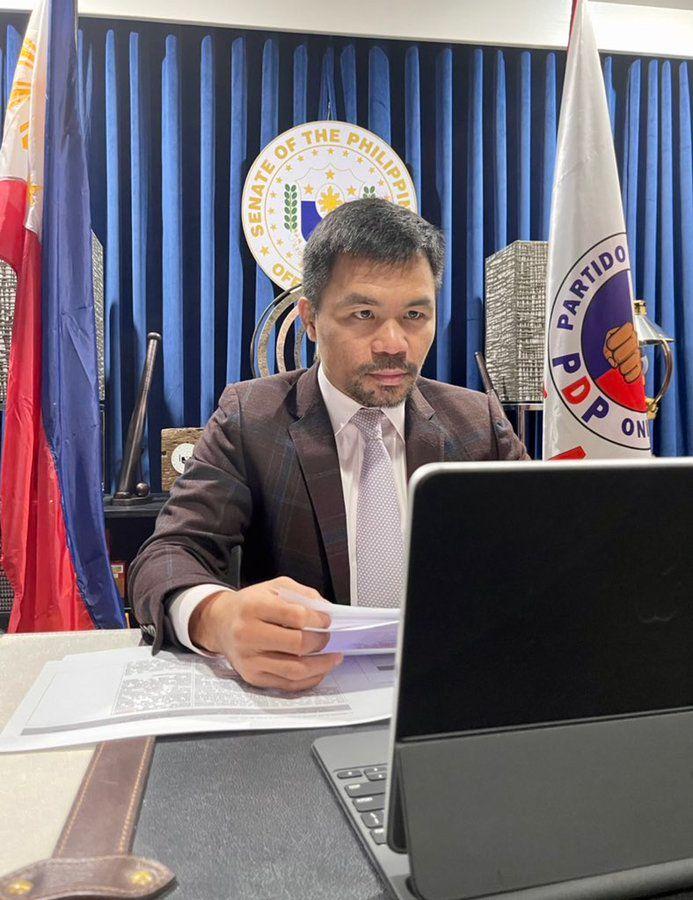 At the Senate Manny Pacquiao